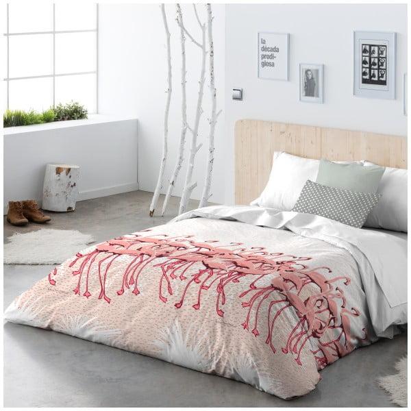 Pościel Flamingo Flock Pink, 240x220 cm