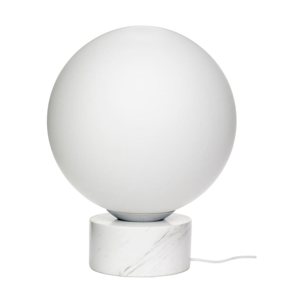 Biała lampa stojąca z marmurowymi detalami Hübsch Gitto