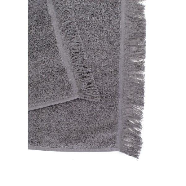 Komplet 4 szarych ręczników Casa Di Bassi Soft, 50x90 cm