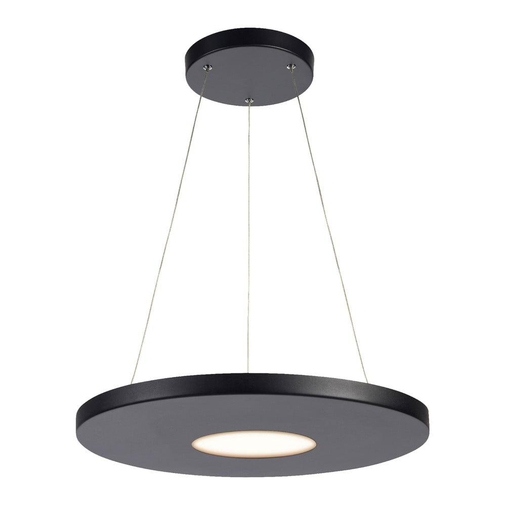 Czarna lampa wisząca Markslöjd Plate, ø 50 cm