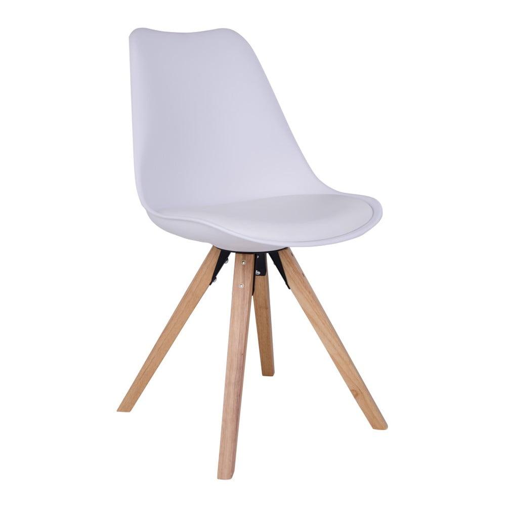 Zestaw 2 białych krzeseł z nogami z drewna kauczukowego House Nordic Bergen