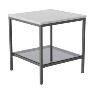 Marmurowy stolik z szarą konstrukcją RGEAscot, 50x50cm