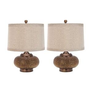 Zestaw 2 lamp stołowych Safavieh Alex Is Gold