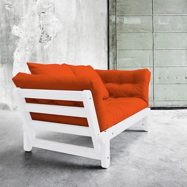 Sofa rozkładana Karup Beat White/Orange