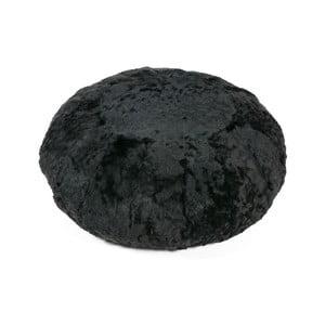 Poduszka futrzana do siedzenia Black