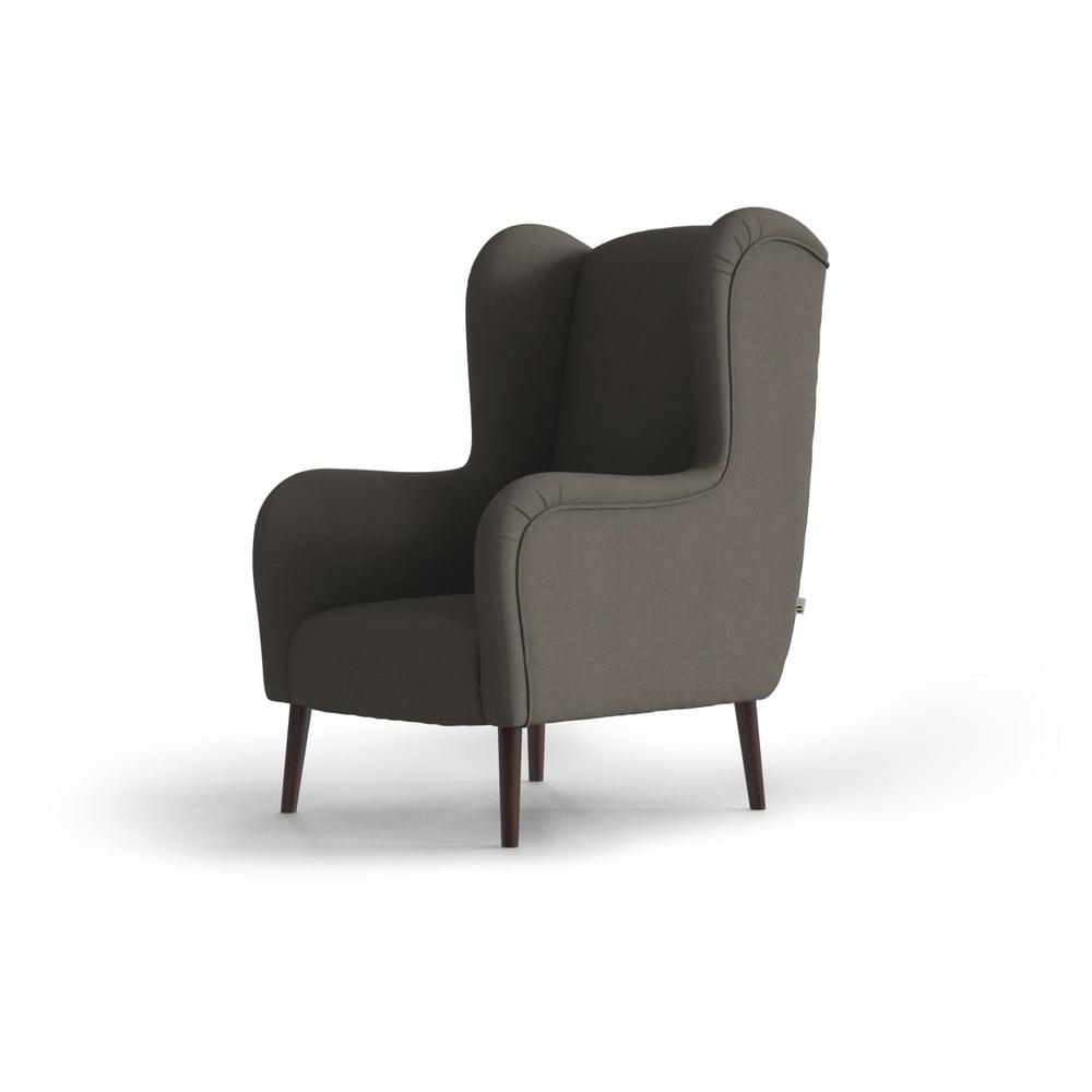 Jasnobrązowy fotel uszak My Pop Design Muette