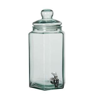 Szklany słoik na lemoniadę J-line Hexagon, 20x39 cm