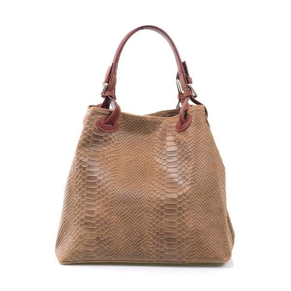 Skórzana torebka Ingrid, beżowa