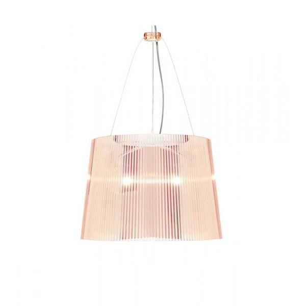 Lampa wisząca Kartell GÉ Crystal, różowa