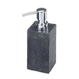 Czarny dozownik do mydła Wenko Slate Rock