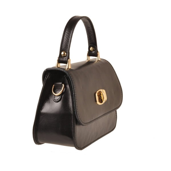 Skórzana torebka Flaux, czarna