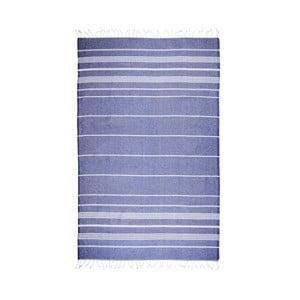 Ciemnoniebieski ręcznik hammam Kate Louise Classic, 180x100 cm