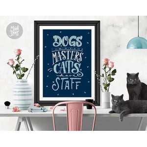 Plakat Dogs Masters Cats Staff, A3