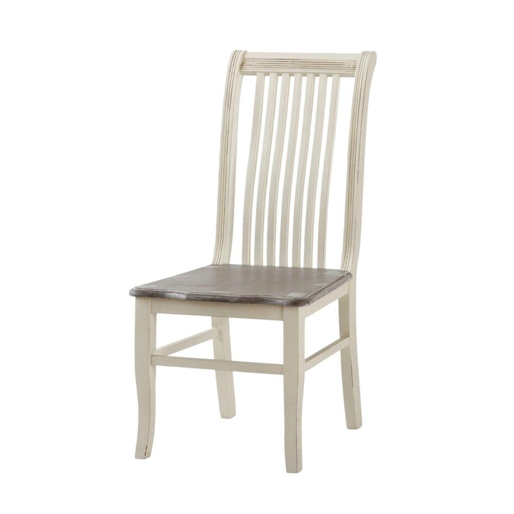 Kremowe krzesło z drewna topoli Livin Hill Pesaro