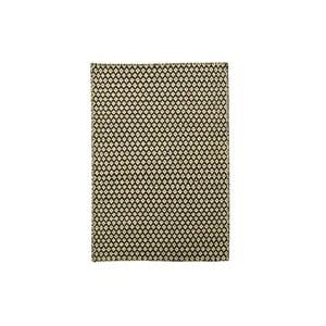 Ręcznie tkany kilim Brown and White Kilim, 110x158 cm