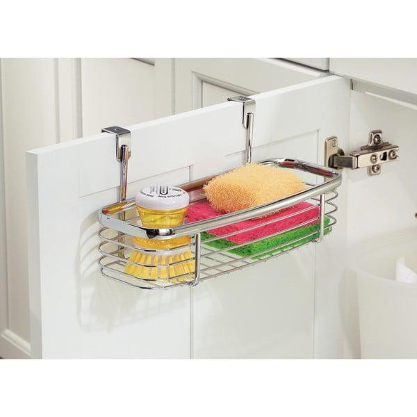 Metalowy koszyk na drzwi szafek kuchennych InterDesign Axis Tray