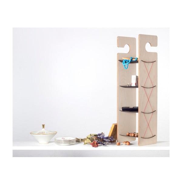 Półka wisząca/stojąca Smardrobe 59x15 cm, czerń i brzoza
