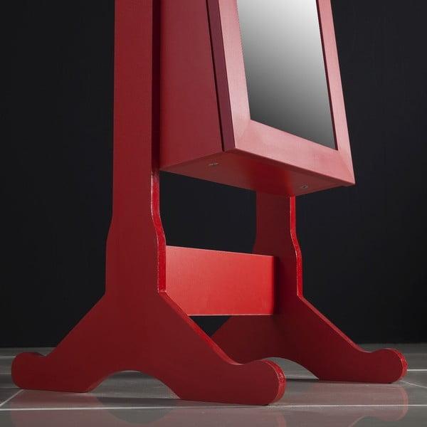 Lustro stojące ze schowkiem Adriana, czerwone