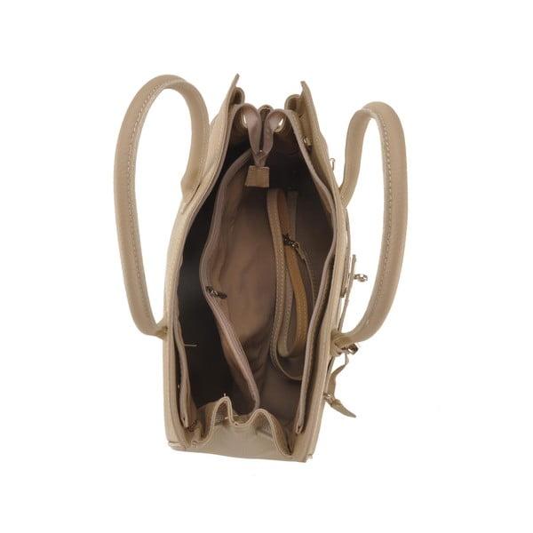 Skórzana torebka Gallina, beżowa
