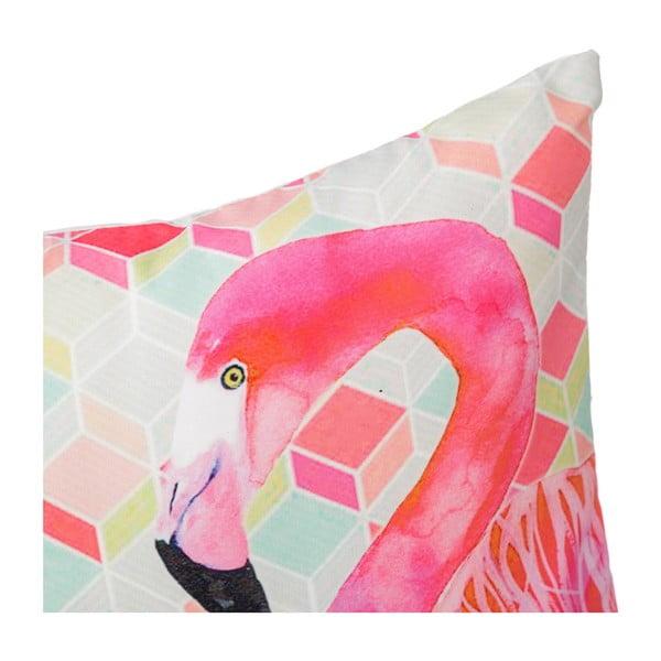 Poduszka Half Flamingo, 45x45 cm
