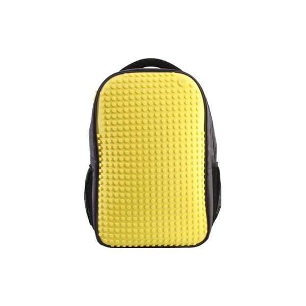 Plecak studencki Pixelbag, szary/zółty