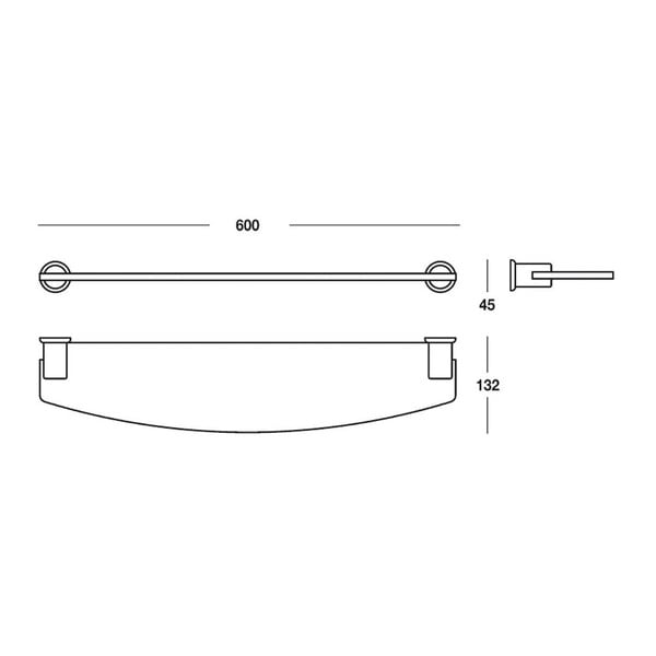 Półka Light Chromo, 60x4,5x13 cm