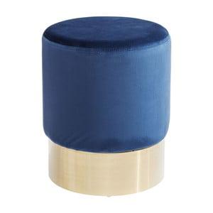 Niebieski puf/stołek Kare Design Cherry