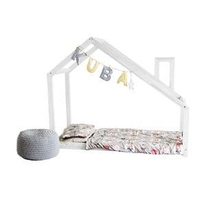 Białe łóżko dziecięce w kształcie domku Benlemi DENY 80x160 cm