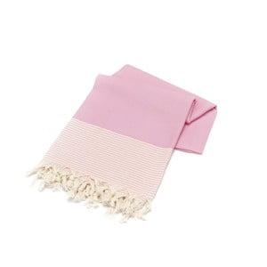 Różowy ręcznik Hammam Bal Petergi, 100x180cm