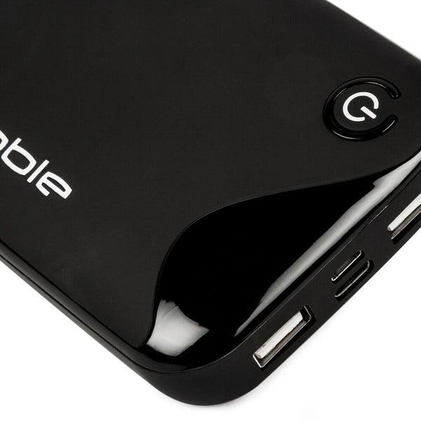Czarna ładowarka przenośna Pebble Portable