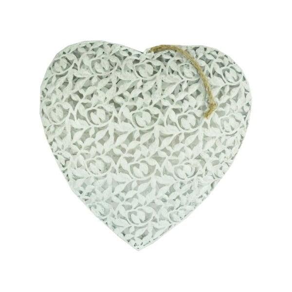 Dekoracja wisząca Heart, 16x16 cm