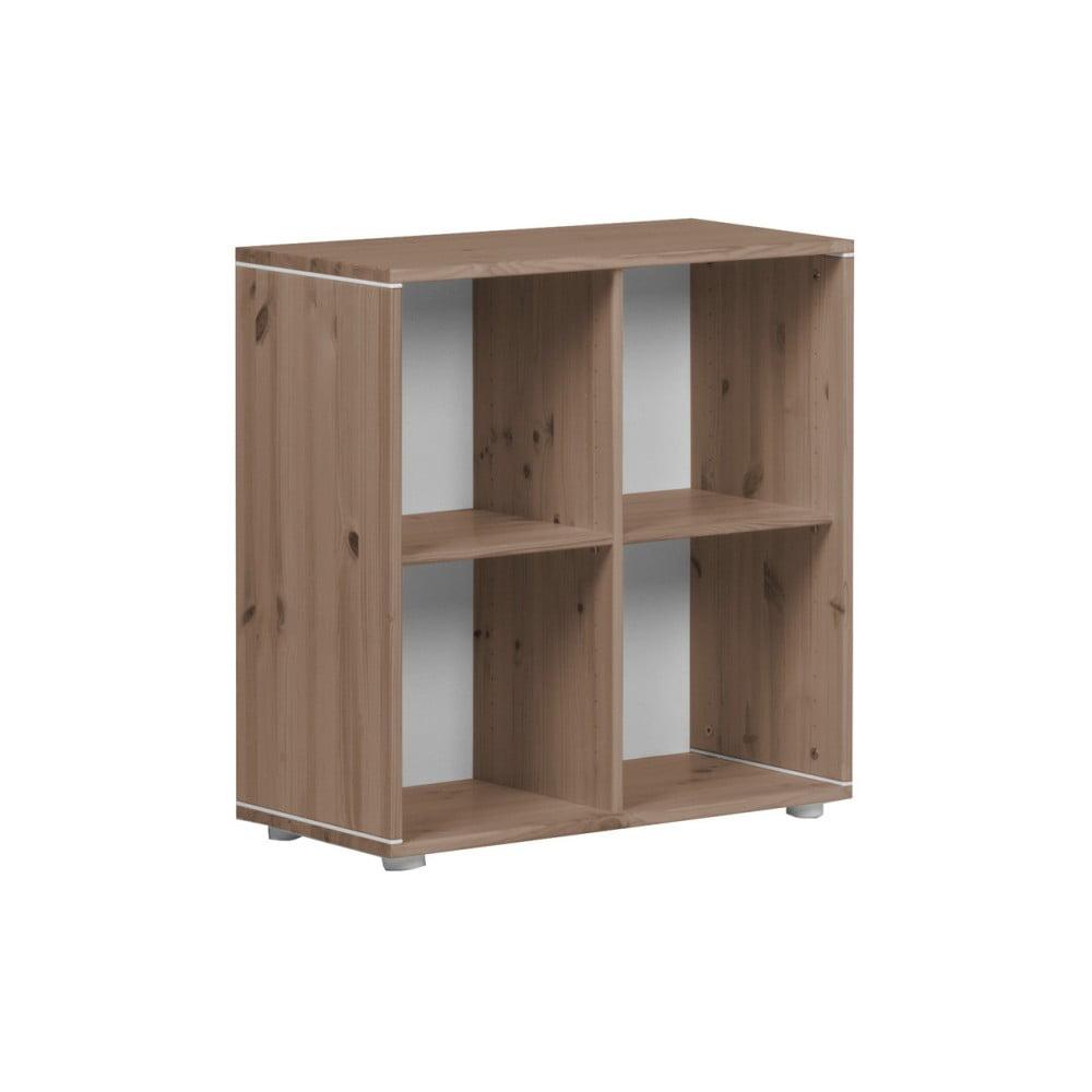 Brązowa szafka dziecięca z drewna sosnowego Flexa Classic, 72x72 cm