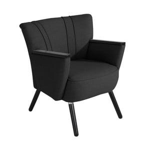 Czarny fotel Max Winzer Laurin