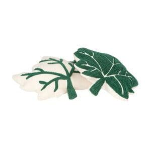 Komplet 2 zielono-białych poduszek Nattiot Erable