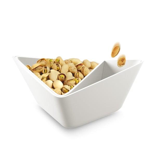 Potrójna miska Nut+Olive Bowl, biała