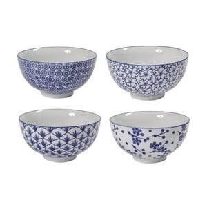 Zestaw 4 porcelanowych misek Blue Bowls, 15 cm