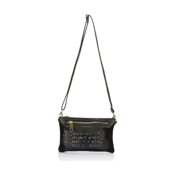 Czarna torebka skórzana Lisa Minardi Eleuterio