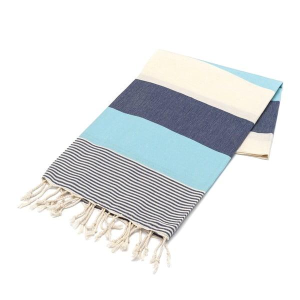 Ręcznik hammam American Fouta Navy, 100x180 cm