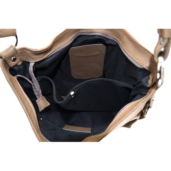 Skórzana torebka Anne, beżowa