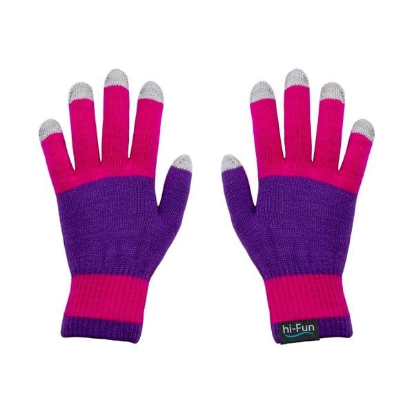 Rękawiczki dotykowe Hi-Glove, różowe