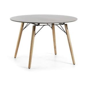 Stół z jasnoszarym blatem La Forma Tropo,Ø120cm