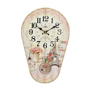Zegar z wahadłem Eiffel, 30x45 cm