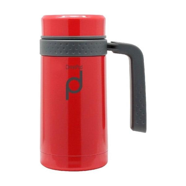 Czerwony kubek termiczny Pioneer Drinkpod , 450 ml