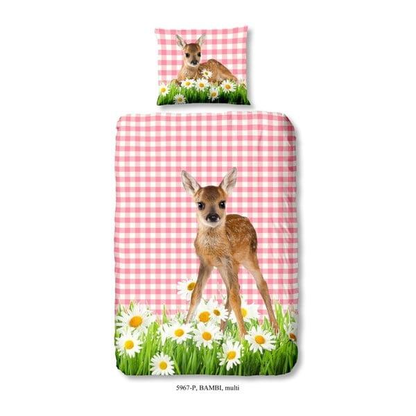Dziecięca pościel jednoosobowa z czystej bawełny Good Morning Bambi, 140x200 cm
