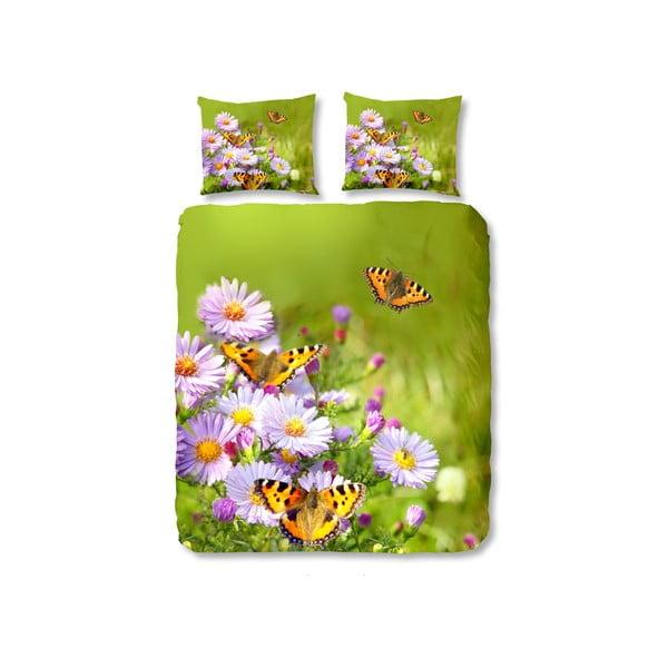 Zielona pościel Muller Textiel Butterfly, 140 x 200 cm