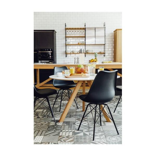 Szare krzesło z konstrukcją z metalu loomi.design Eco