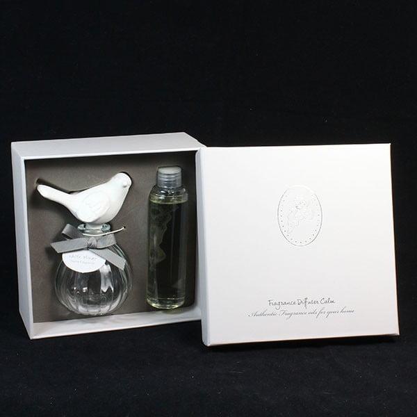 Ptaszek z perfumowanej gliny 100 ml, białe kwiaty