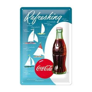 Blaszana tabliczka Refreshing Coca Cola, 20x30cm