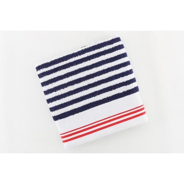 Ręcznik bawełniany BHPC 50x100 cm, niebiesko-biały