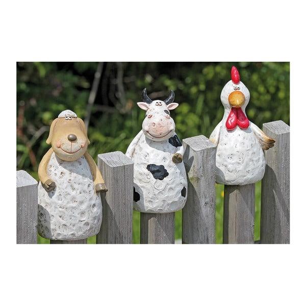 Zestaw 3 dekoracji na płot Fence